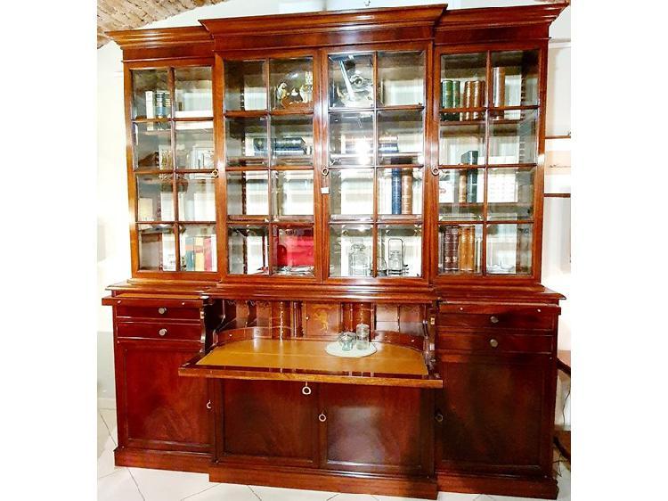 Libreria provasi legno massello con vetrine scontato del 52%