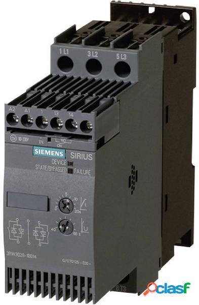 Avviatore soft starter siemens potenza motore a 400 v 22 kw potenza motore a 230 v 11 kw 400 v/ac corrente nominale 45 a 3rw3036-1bb14