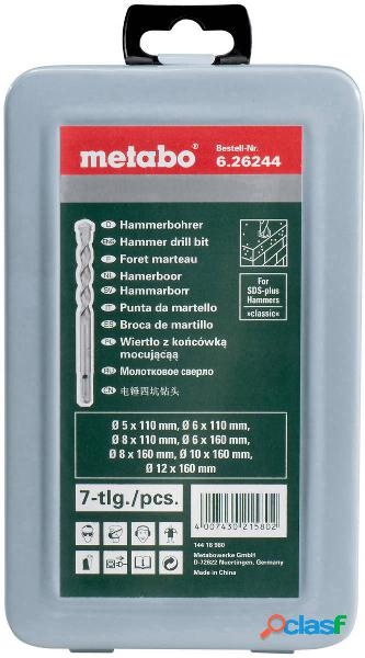 Metabo 626244000 kit punte per calcestruzzo 7 parti 5 mm, 6 mm, 6 mm, 8 mm, 8 mm, 10 mm, 12 mm 7 pz.