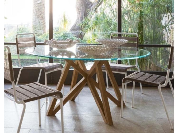 Struttura teak 150 cm luxury md work: tavolo da giardino a