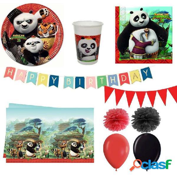 Kit n.46 kung fu panda - accessori tavola per 32 bambini