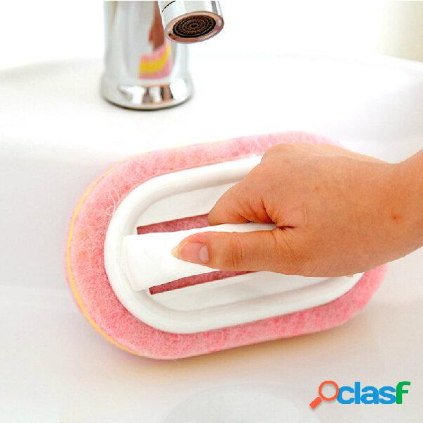 Spugna con manico in plastica pennello pulizia del vetro per vetri delle piastrelle spazzole utensile da cucina