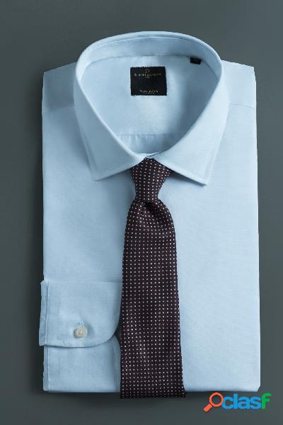 Camicia collo italiano maniche lunghe - taglia: 44 - colore: white
