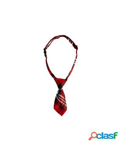 Collare a cravatta regolabile cane e gatto vari colori fantasia 6