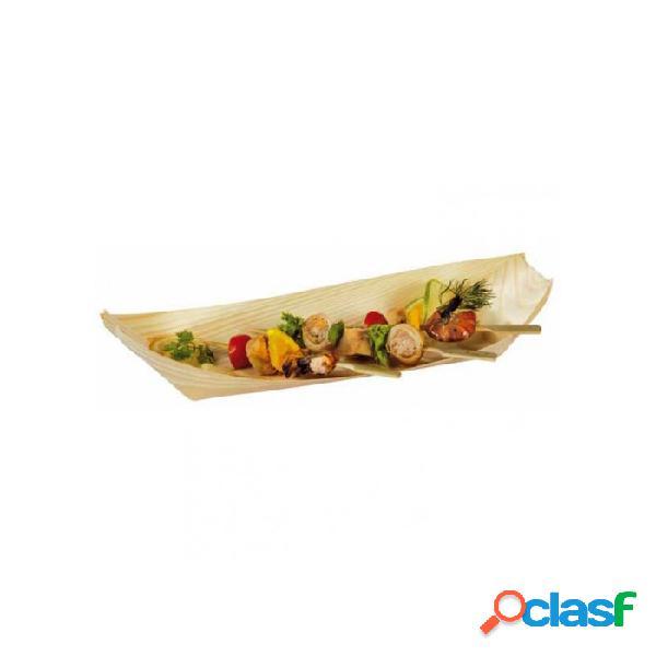 Mini barchetta in legno abete cm 25x11 - naturale
