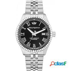 Philip watch r8253597054 uomo 41mm acciaio acciaio nero silver quarzo solo tempo 10atm - philip watch - r8253597054-c