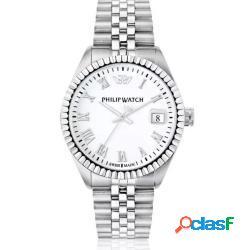 Philip watch r8253597056 uomo 41mm acciaio/silver acciaio bianco silver quarzo/solo tempo 10atm - philip watch - r8253597056-c