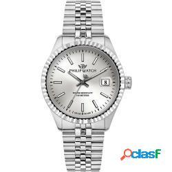 Philip watch r8253597068 c uomo 39mm acciaio silver acciaio silver silver quarzo solo tempo 10atm - philip watch - r8253597068-c