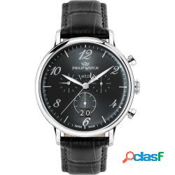 Philip watch r8271695002 uomo 49mm acciaio pelle nero nero quarzo cronografo 5atm - philip watch - r8271695002-c