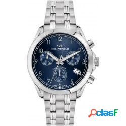 Philip watch r8273665005 uomo 41mm acciaio acciaio blu silver quarzo cronografo 10atm - philip watch - r8273665005
