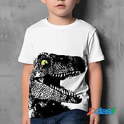 Bambino da ragazzo maglietta manica corta stampa 3d pop art con stampe blu bianco bambini top estate attivo da tutti i giorni standard 4-12 anni lightinthebox