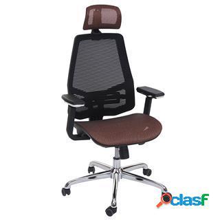 Sedia ergonomica brend, in arancione e nero