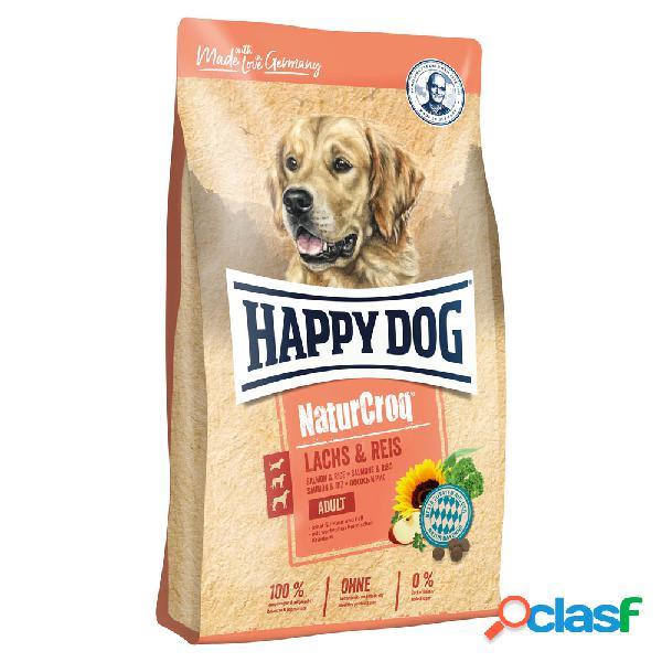 Happy dog naturcroq salmone & riso 12 kg