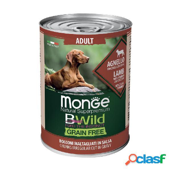 Monge natural superpremium bwild grain free dog adult agnello con...
