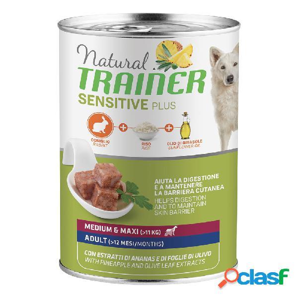 Natural trainer dog sensitive plus medium&maxi adult con coniglio...