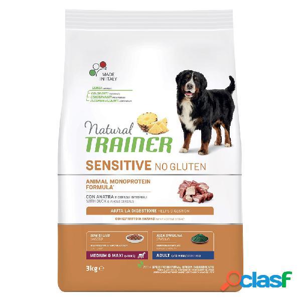 Natural trainer sensitive no gluten medium & maxi adult con anatra...