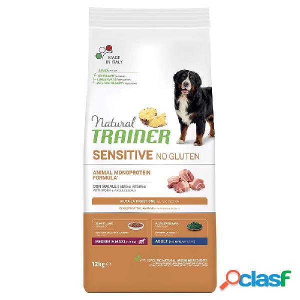 Natural trainer sensitive no gluten medium & maxi adult con maiale...