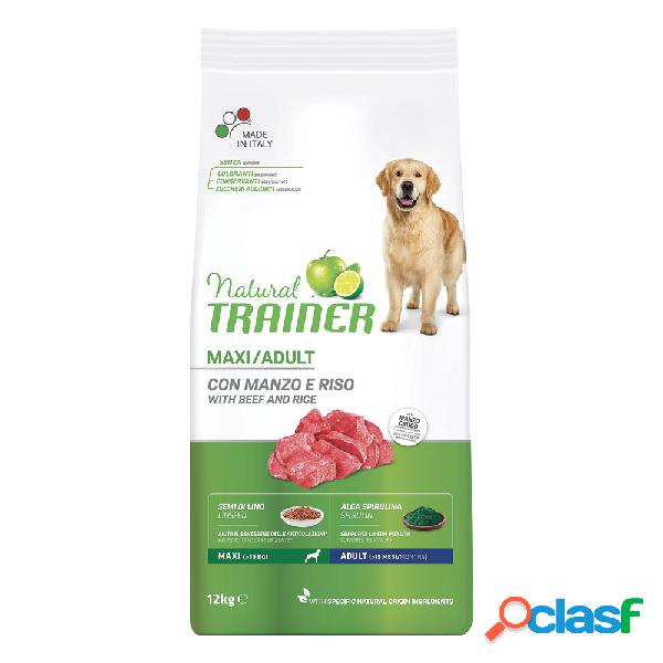 Natural trainer maxi adult manzo & riso 12 kg.