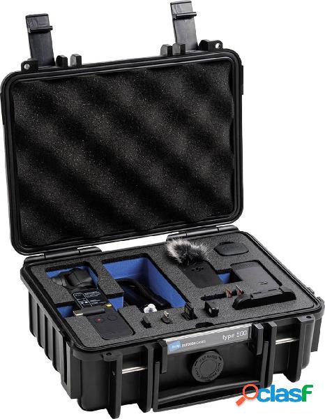 B & w valigetta rigida per fotocamera 500/b/pocket2 misura interna (lxaxp)=145 x 205 x 80 mm impermeabile