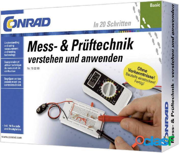 Conrad components 10091 basic mess- & prüftechnik elettronica pacchetto di apprendimento da 14 anni