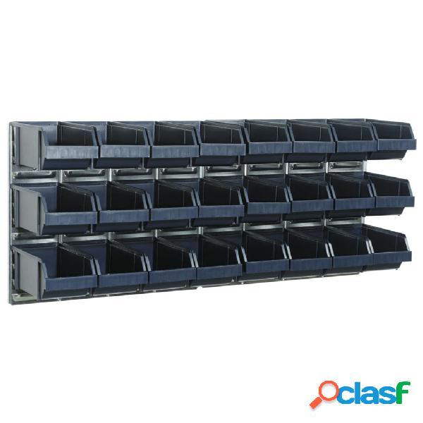 Raaco 181228 set 2 pannelli a parete con 24 contenitori