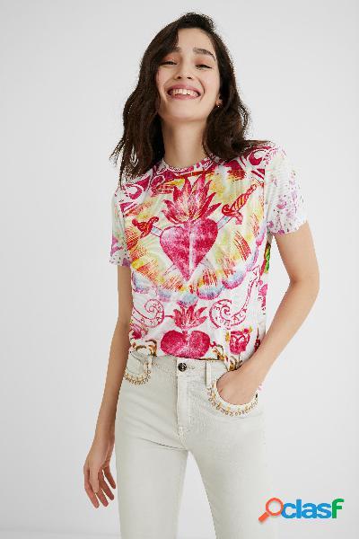 Maglietta manica corta cuore - white - xl