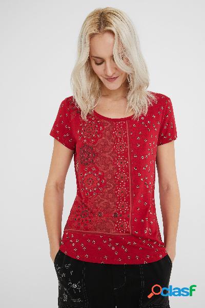 Maglietta manica corta mandala - red - m