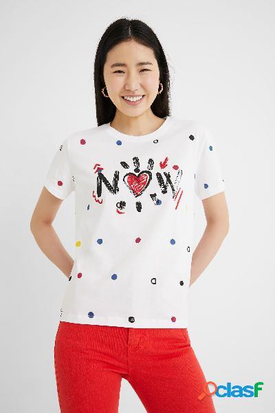 Maglietta manica corta pois - white - xl