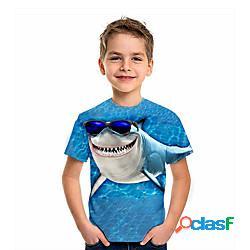 Bambino da ragazzo maglietta manica corta animali con stampe blu bambini top estate attivo da tutti i giorni standard 4-12 anni lightinthebox