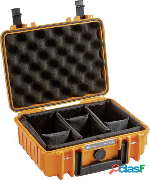 B & w outdoor.cases typ 1000 valigetta rigida per fotocamera impermeabile