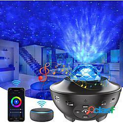 Proiettore stellare proiettore smart galaxy luce notturna luce decorativa stellata compatibile con alexa e google home app e telecomando lucernario musicale proiettore per feste in camera da