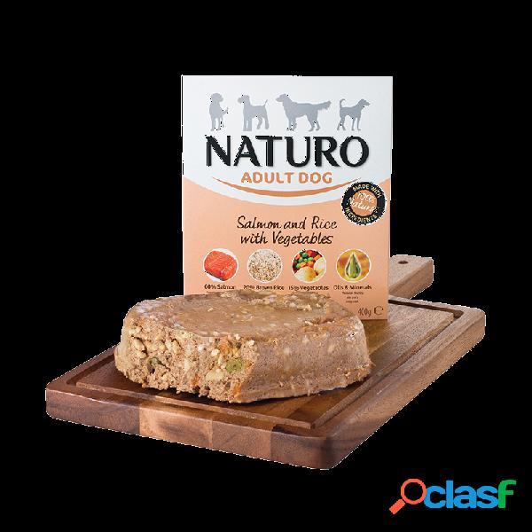 Naturo - naturo adult umido per cani adulti 8x400 gr salmone e riso con verdure