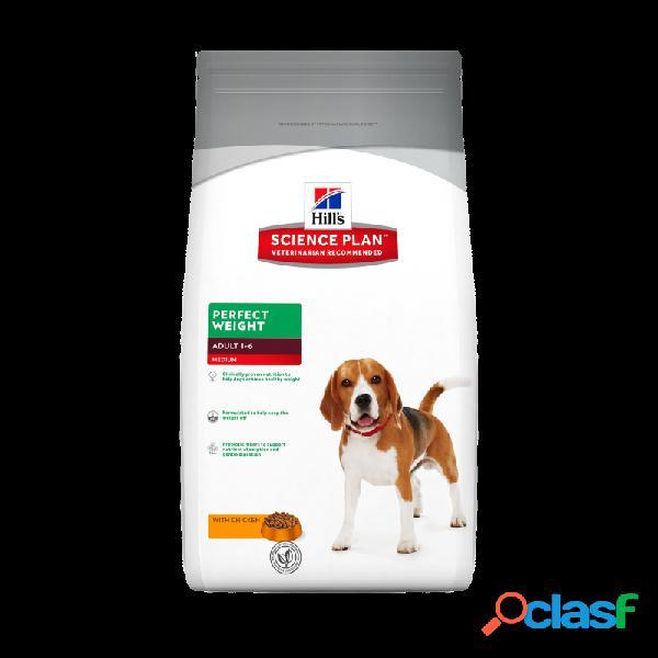 Hill's science plan - hill's perfect weight adult medium per cani di taglia media sacco da 2 kg taglia media