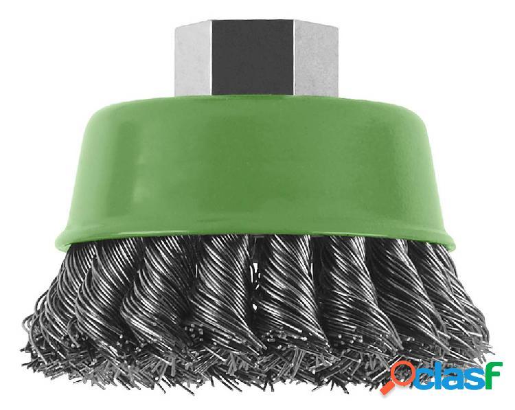 Bosch accessories spazzola a tazza per smerigliatrice angolare e diritta - filo intrecciato, inossidabile, 75 mm ø 75 mm filo in acciaio inox 2609256504 1 pz.