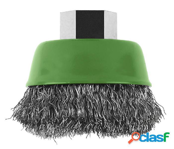 Bosch accessories spazzola a tazza per smerigliatrice angolare e diritta - filo ondulato, inossidabile, 65 mm ø 75 mm filo in acciaio inox 2609256501 1 pz.