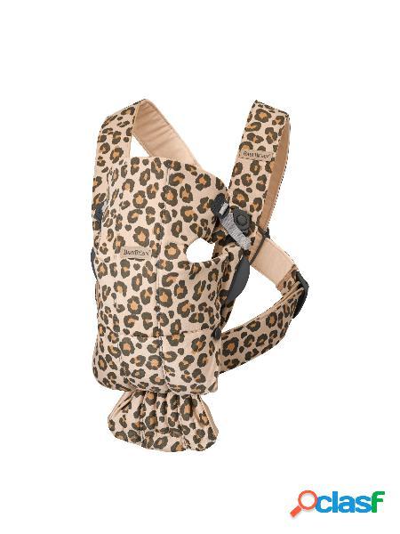Marsupio babybjörn mini new classics beige/leopard