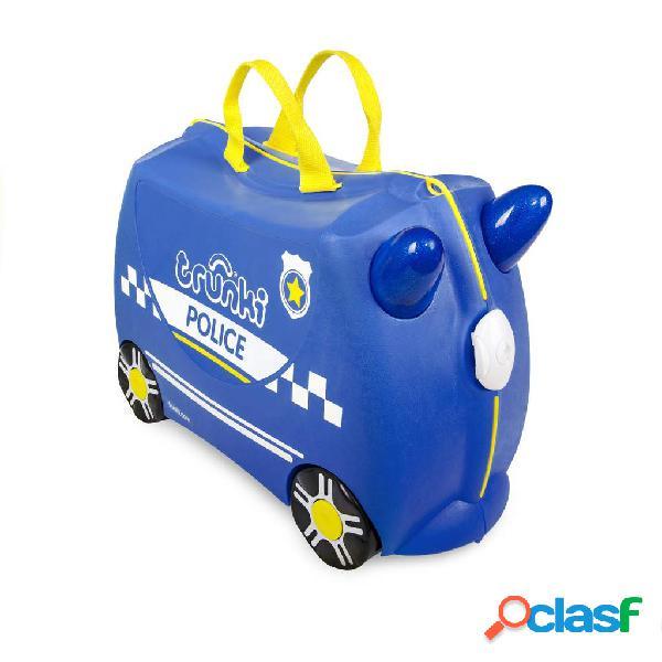 Valigetta cavalcabile trunki percy police car