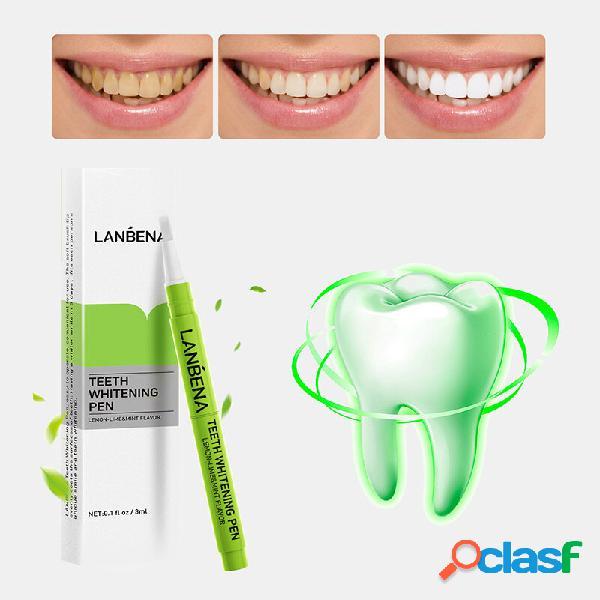 Penna sbiancante per denti alla menta macchie di tartaro per denti puliti macchie di caffè pulizia dei denti pennello