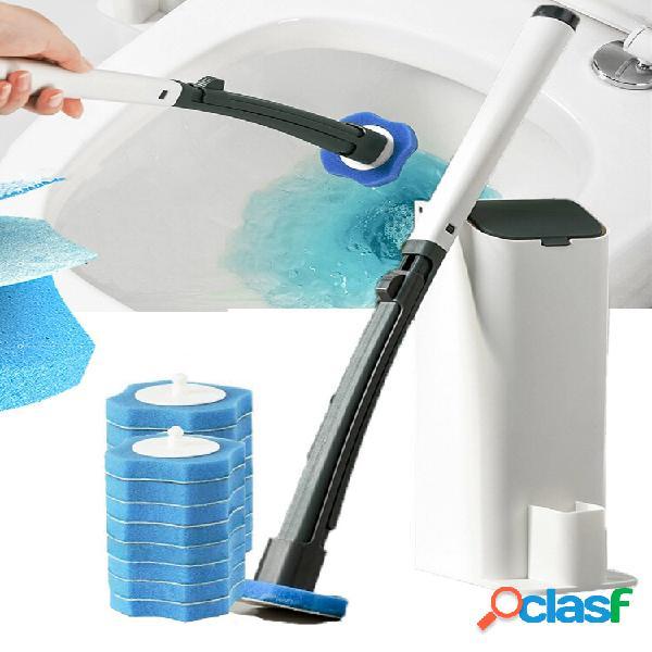 Wc monouso per pulizia pennello wc pennello set di supporti con 8 spugne per bagno wc cucina pulita