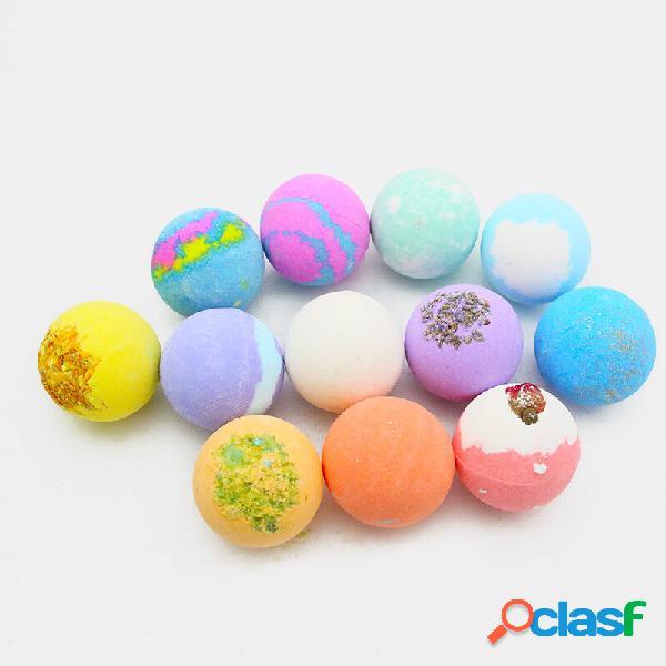 12 pezzi/set bombe da bagno esfoliante palla di sale multicolore bagnoschiuma essenziale olio cura della pelle da bagno