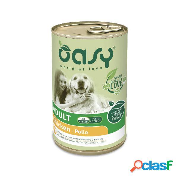 Cibo umido per cani oasy adult pollo all breeds 400 gr
