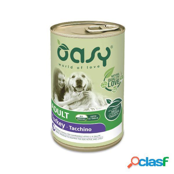 Cibo umido per cani oasy adult tacchino all breeds 400 gr