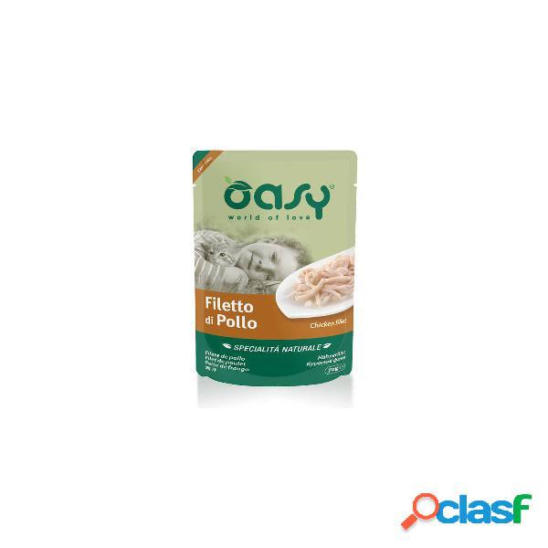 Cibo umido per gatto oasy filetto di pollo 70 gr.