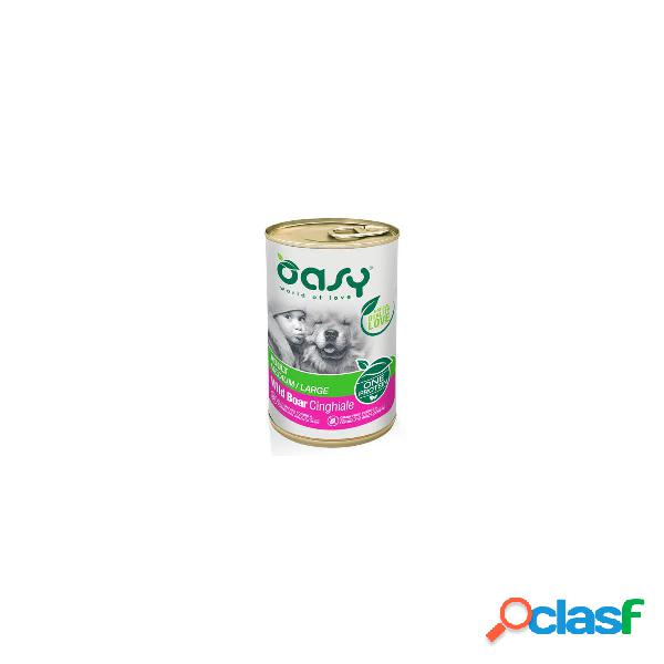 Oasy cibo umido per cani monoproteico adult cinghiale one protein 400 gr