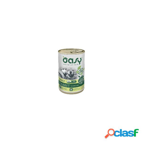 Oasy cibo umido per cani monoproteico adult coniglio one protein 400 gr