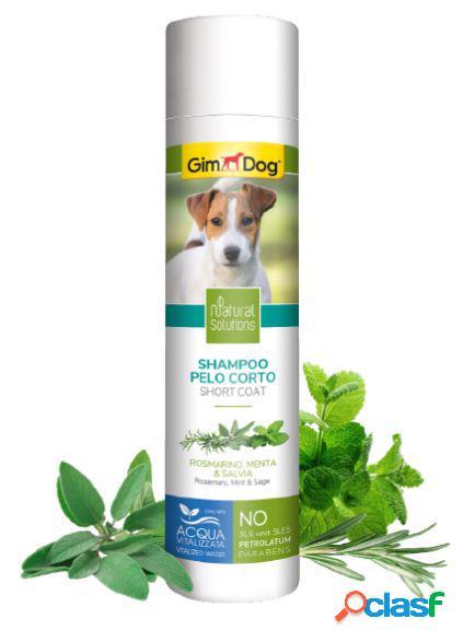 Gimdog natural solutions shampoo per cani 250 ml pelo corto...