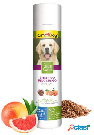 Gimdog natural solutions shampoo per cani 250 ml pelo lungo semi...