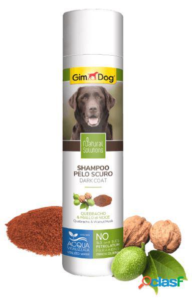Gimdog natural solutions shampoo per cani 250 ml pelo scuro...