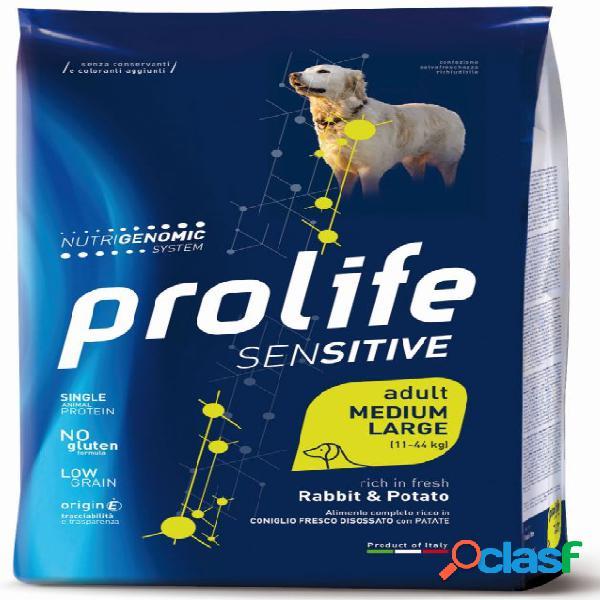 Prolife cane sensitive adult medium large coniglio patate kg 2,5...