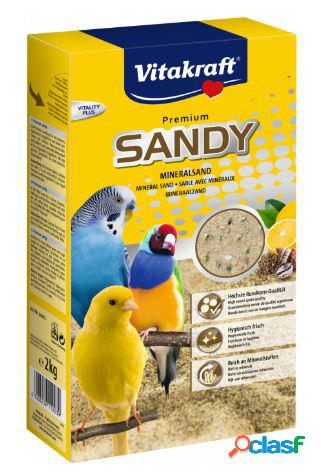 Vitakraft premium sandy sabbia per uccelli kg 2